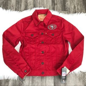 Levi's San Francisco 49ers Red Denim Jacket